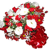 White and Red De Luxe Bouquet