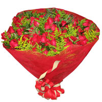 Infinity Bouquet of 100 Red Roses