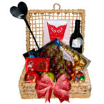 Captivating Sweet Heart Erotic Basket with Mesmerizing Charm