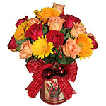 Gorgeous Christmas Flower Special of Mixed Roses and Gerberas