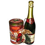 Personality-Filled Unisex Gift Hamper of Champagne with Cookies